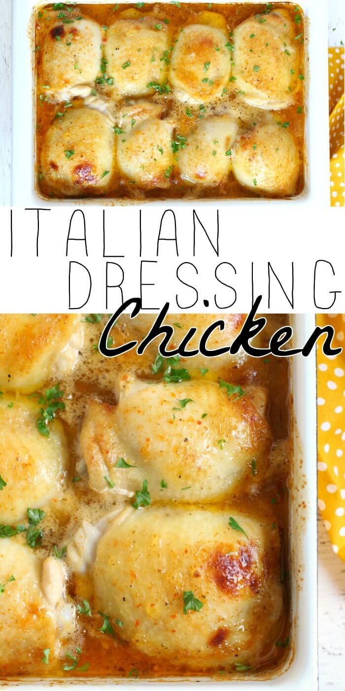 BAKED CHICKEN WITH ITALIAN DRESSING