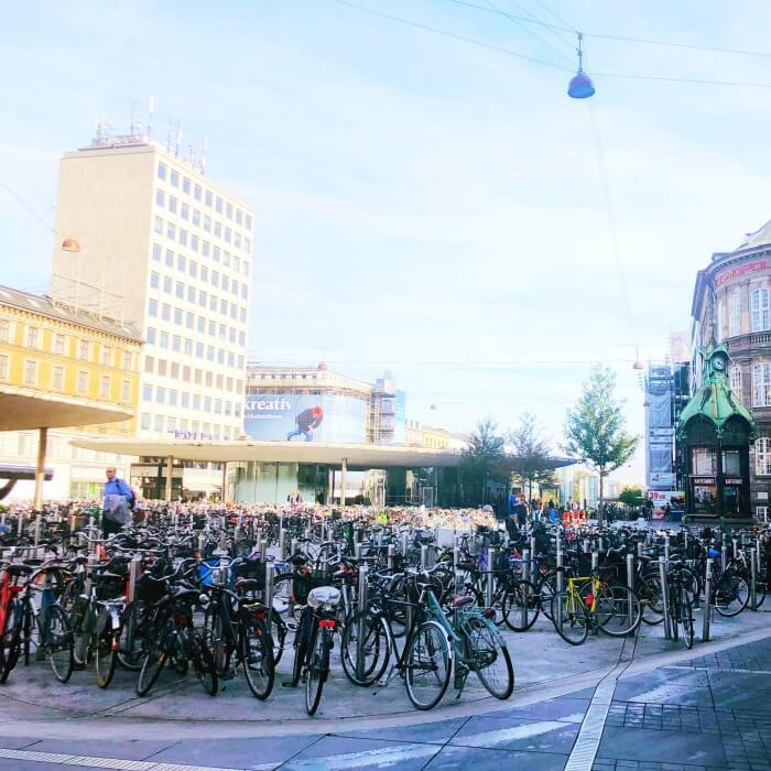 BICYCLE PARKING COPENHAGEN DENMARK