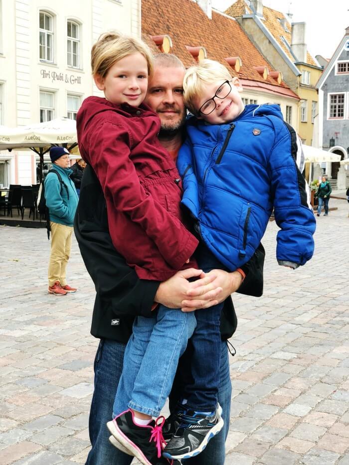 CARRYING THE KIDS IN TALLINN ESTONIA
