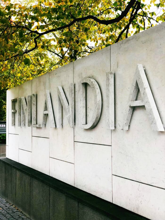 FINLANDIA SIGN IN HELSINKI