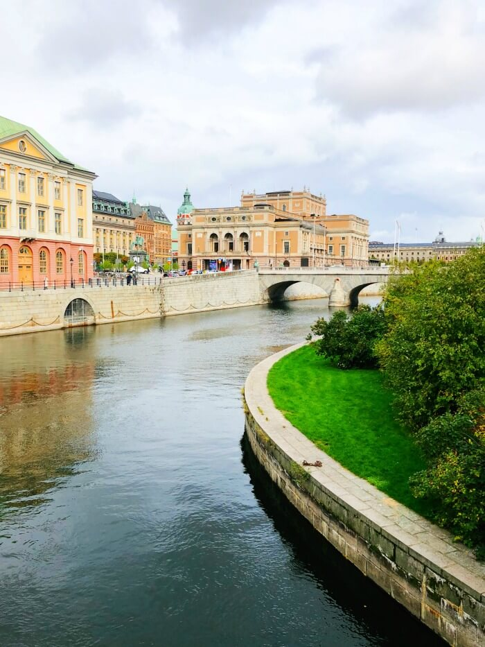 VIEW OF CANALS IN STOCKHOLM SWEDEN