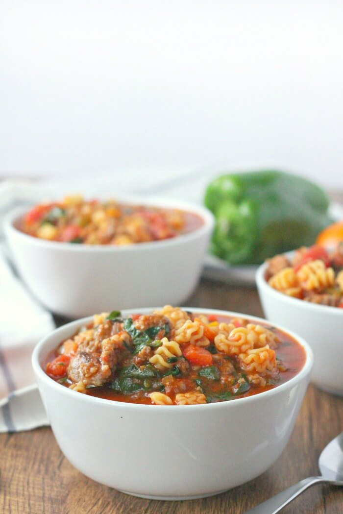 ITALIAN SAUSAGE SOUP WITH PASTA