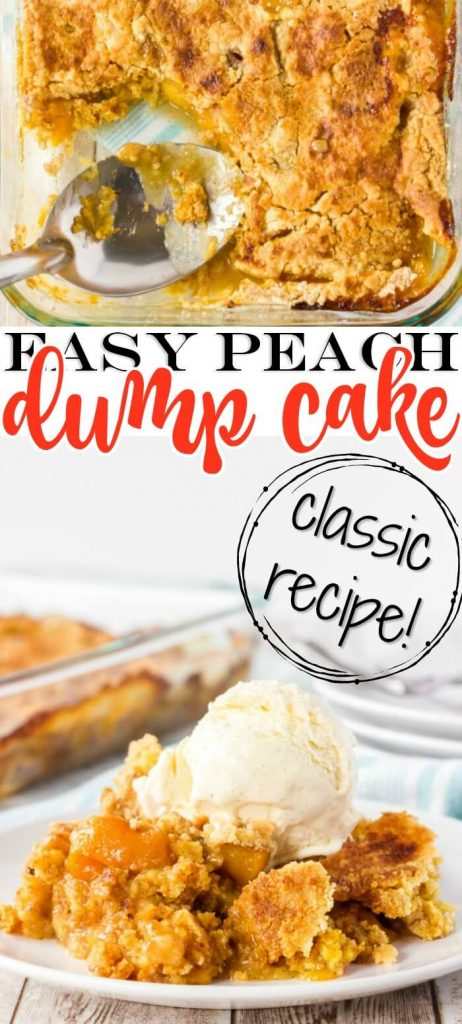 EASY PEACH COBBLER DUMP CAKE RECIPE