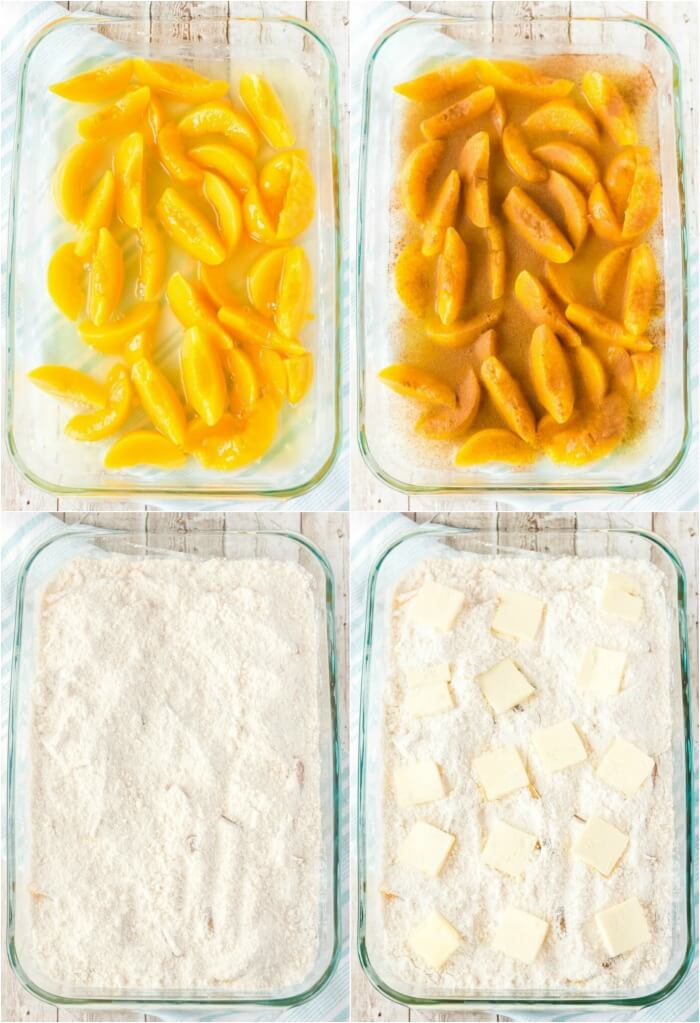 PEACH DUMP CAKE INGREDIENTS