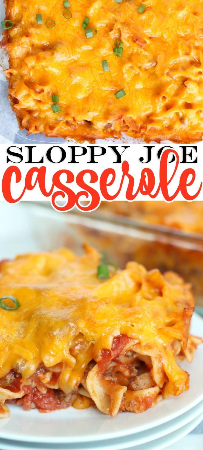 SLOPPY JOE CASSEROLE RECIPE