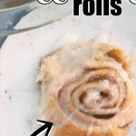 EASY CINNAMON ROLLS WITH CRESCENT DOUGH