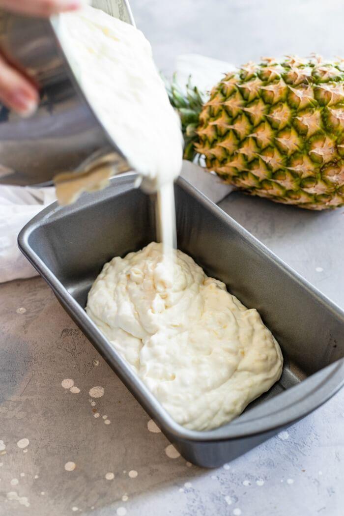 HOW TO MAKE PINEAPPLE ICE CREAM