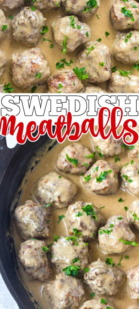HOMEMADE SWEDISH MEATBALLS