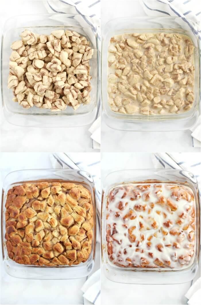 HOW TO MAKE CINNAMON ROLL CASSEROLE