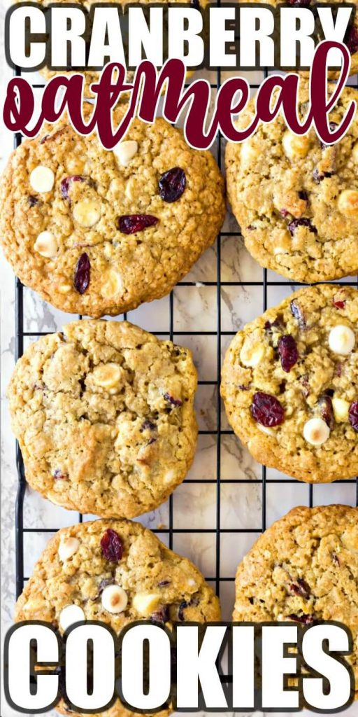 OATMEAL CRANBERRY COOKIES WITH WHITE CHOCOLATE