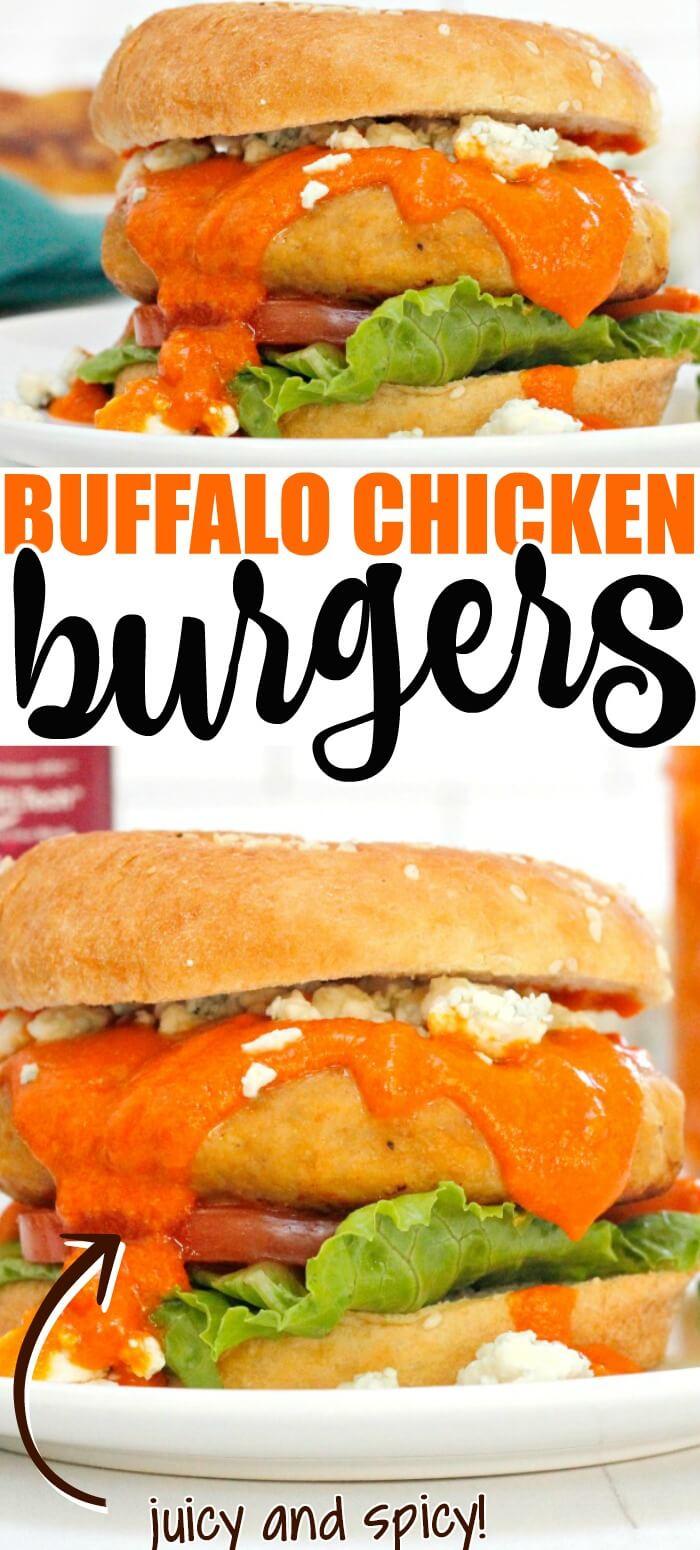 BEST BUFFALO CHICKEN BURGERS