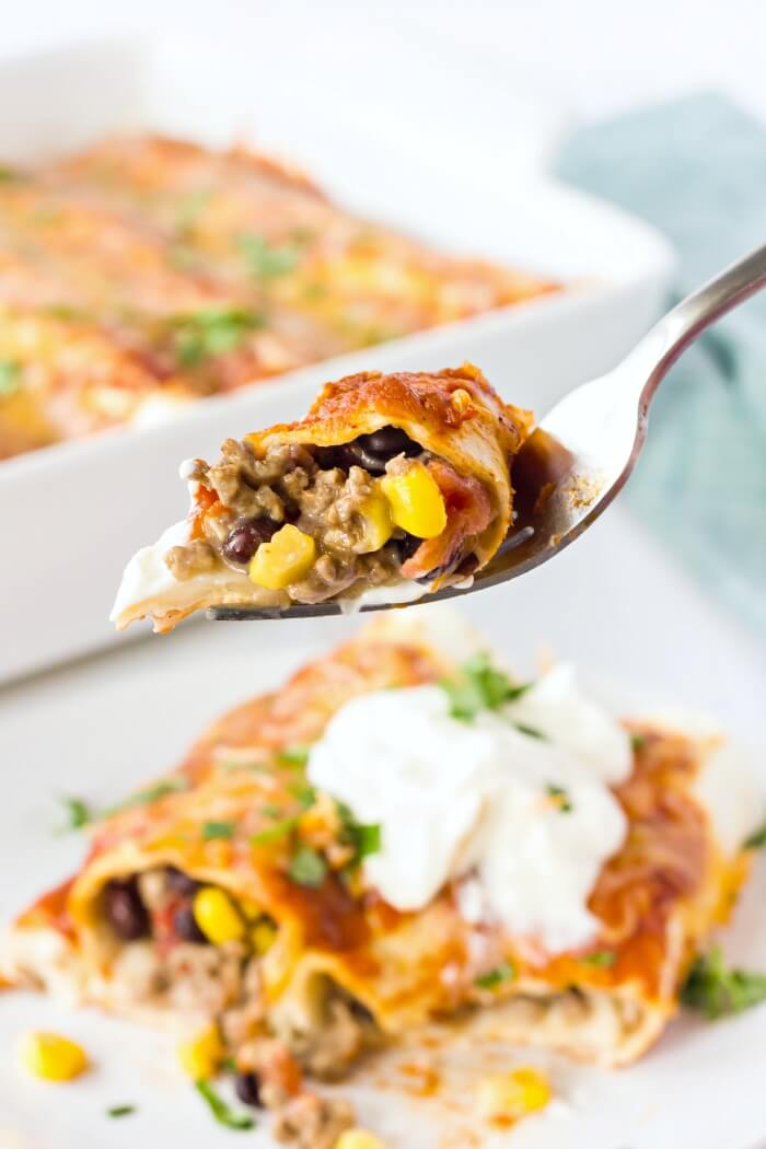 EASY BEEF ENCHILADA RECIPE