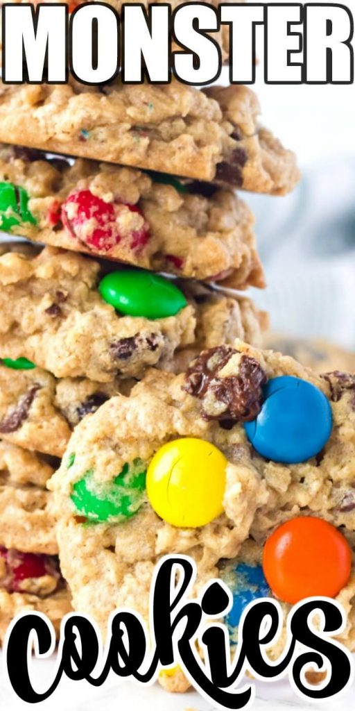 HOMEMADE MONSTER COOKIE RECIPE