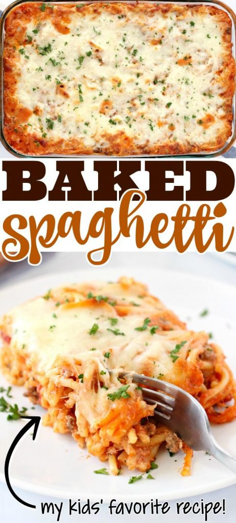 HOMEMADE BAKED SPAGHETTI RECIPE