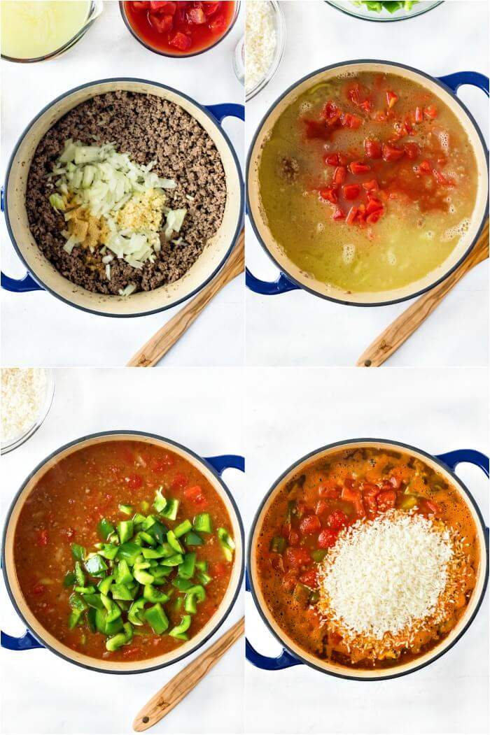 HOW TO MAKE STUFFED PEPPER SOUP