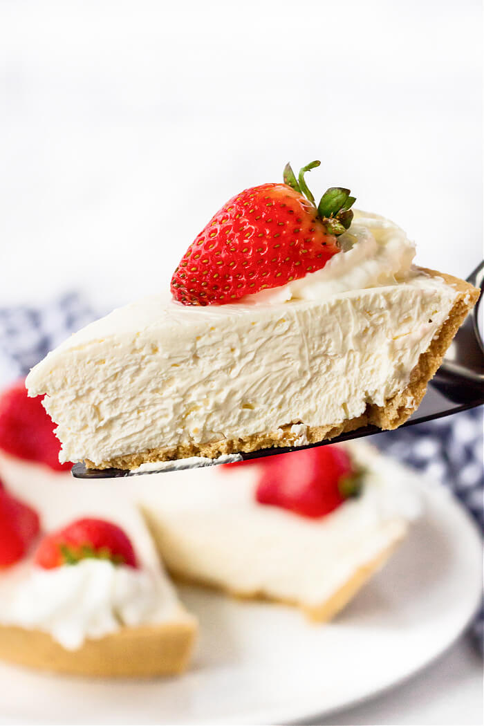 NO BAKE CHEESECAKE WITH COOL WHIP