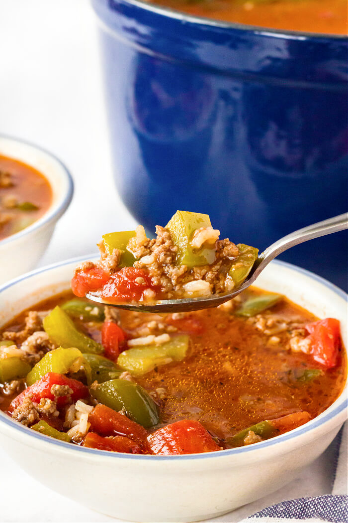 RECIPE FOR STUFFED BELL PEPPER SOUP