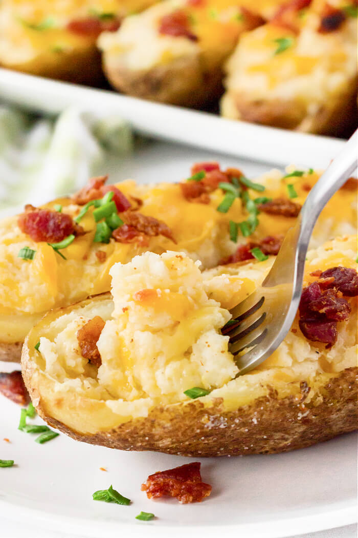 TWICED BAKED POTATOES