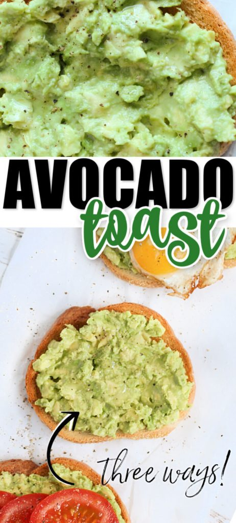 EASY AVOCADO TOAST IDEAS
